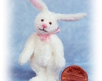 White Rabbit Miniature Bunny Kit - Pattern - DIY - by Emily Farmer
