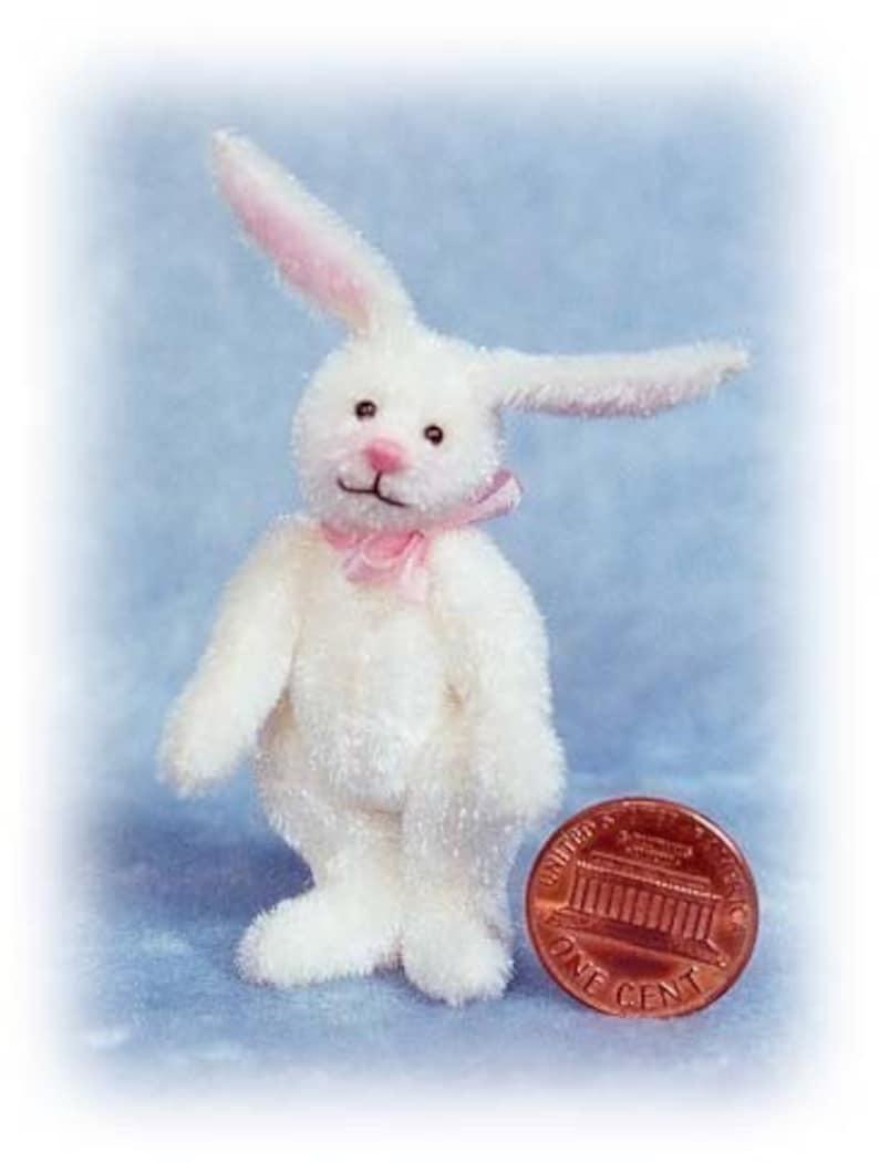 White Rabbit Miniature Bunny Kit  Pattern  by Emily Farmer image 0