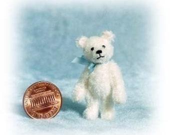 Tiny White Bear Miniature Teddy Bear Kit - Pattern - DIY - by Emily Farmer