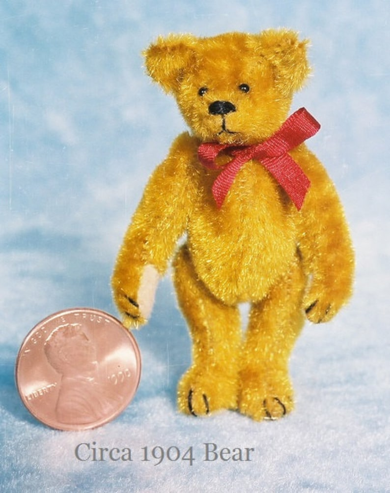 Circa 1904 Antique Style Miniature Teddy Bear Kit  Pattern  image 0