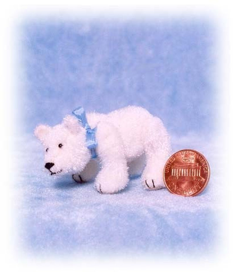 Polar Bear  Miniature Teddy Bear Kit  Pattern  by Emily image 0