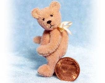 "PDF Pattern & Instructions for Miniature Teddy Bear - Peach-A-Poo 2 1/8"" tall -  by Emily Farmer"