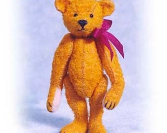 """PDF Pattern & Instructions for Miniature Teddy Bear - DIY - Old Worn, Old Pal, and Raggedy Bear 2 1/2"""" tall -  by Emily Farmer"""