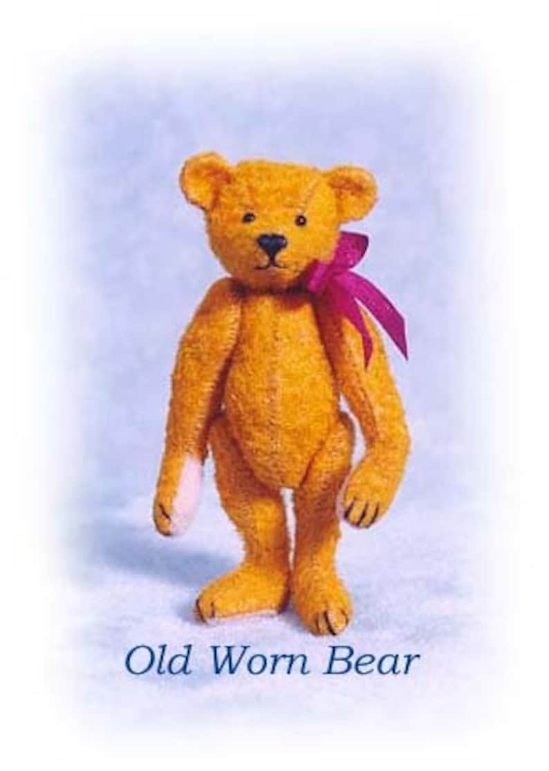 PDF Pattern & Instructions for Miniature Teddy Bear  Old image 0