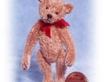 Old Pal Miniature Teddy Bear Kit - Pattern - DIY - by Emily Farmer