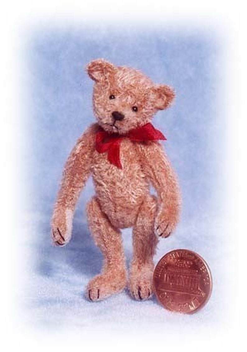 Old Pal Miniature Teddy Bear Kit  Pattern  by Emily Farmer image 0