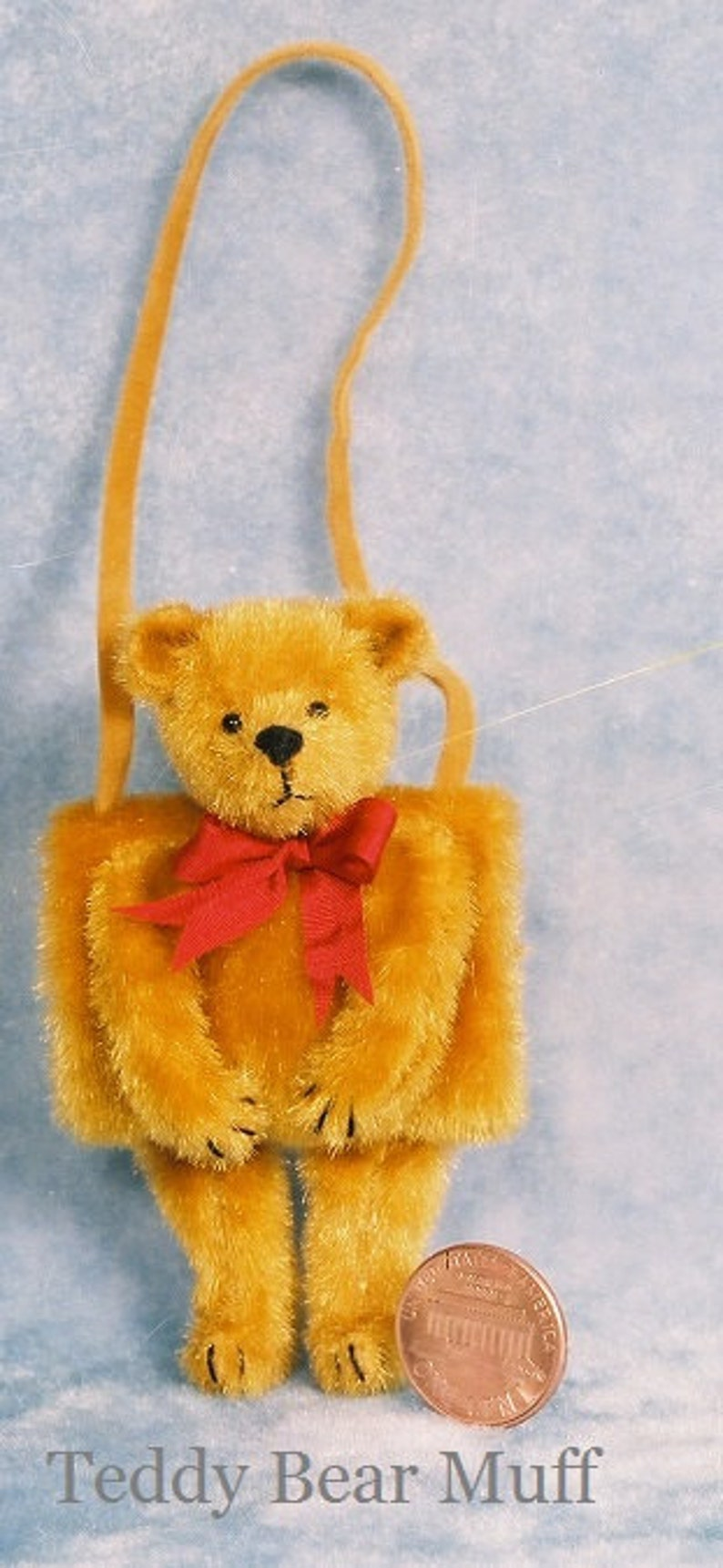 Teddy Bear Muff Miniature Teddy Bear Kit  Pattern  by Emily image 0