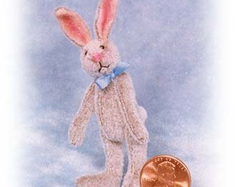 """PDF Pattern & Instructions for Miniature Rabbit - Lanky Bunny 2 1/4"""" tall -  by Emily Farmer"""