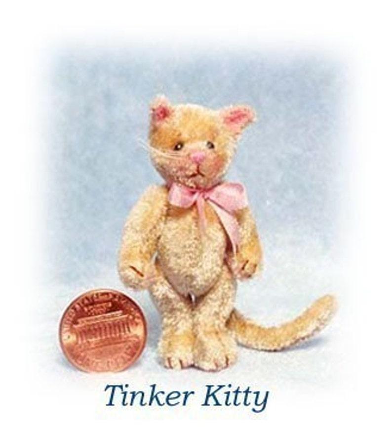 Tinker Kitty  Miniature Cat Kit  Pattern  by Emily Farmer image 0