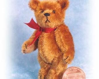"PDF Pattern & Instructions - Big Fatso - Miniature Teddy Bear - DIY - 2 5/8"" tall - by Emily Farmer"