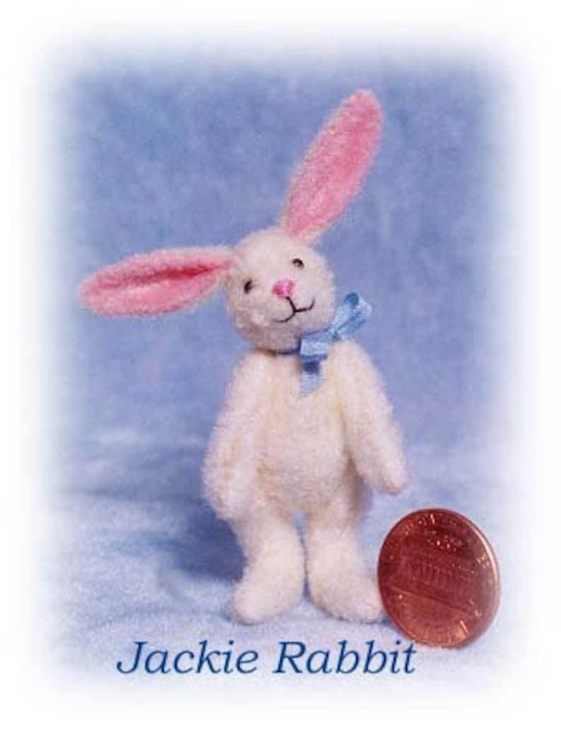 Jackie Rabbit Miniature Rabbit Kit  Pattern  by Emily Farmer image 0