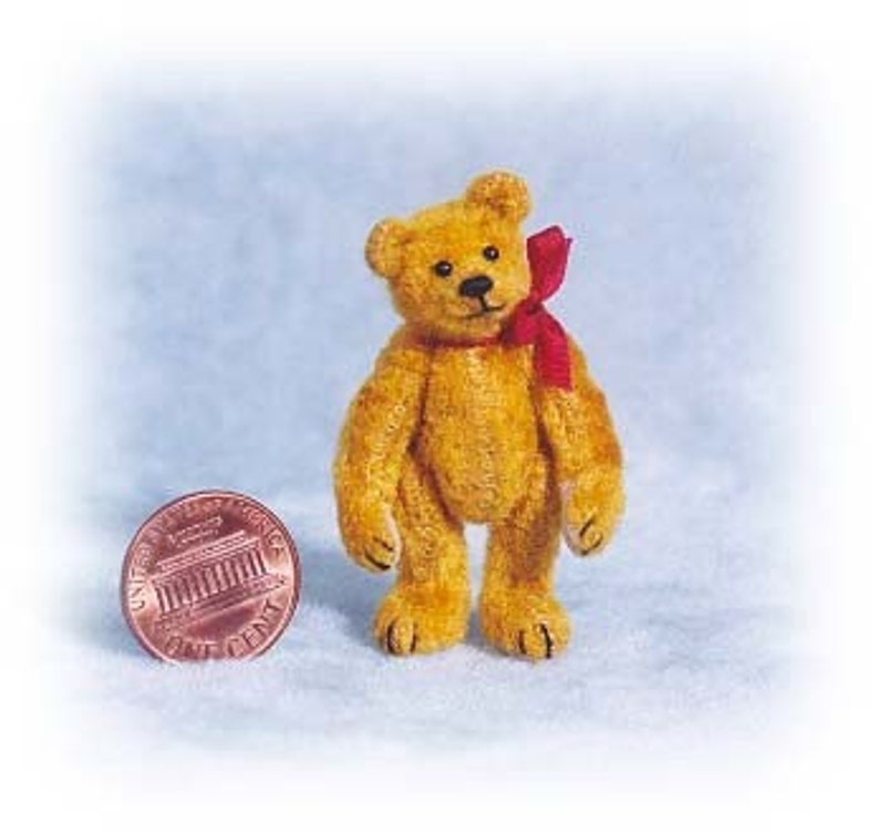 Small Old Bear Miniature Teddy Bear Kit  Pattern  by Emily image 0