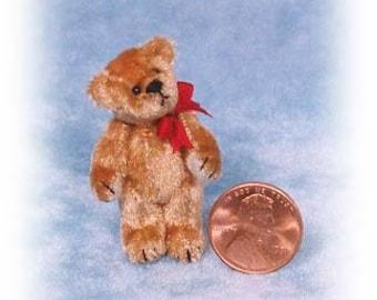 "PDF Pattern & Instructions for Miniature Teddy Bear - DIY - Tiny Fatso - 1 1/2"" tall -  by Emily Farmer"
