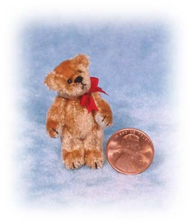 PDF Pattern & Instructions for Miniature Teddy Bear  Tiny image 0