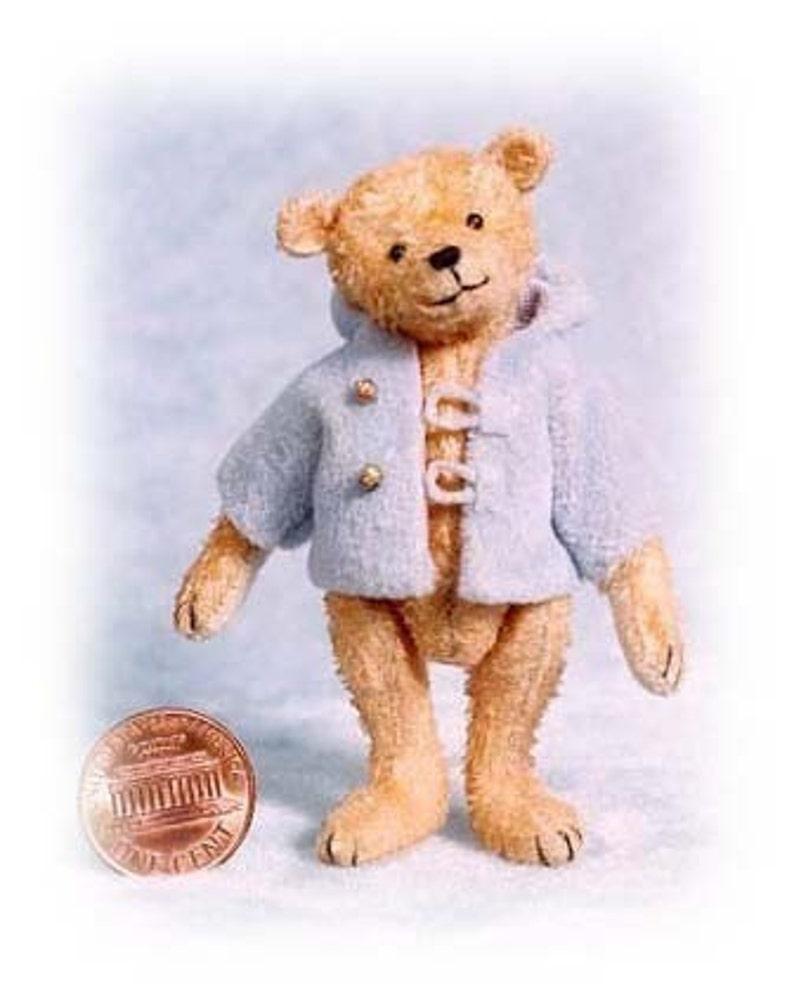 Charley Boy Miniature Teddy Bear Kit  Pattern  by Emily image 0