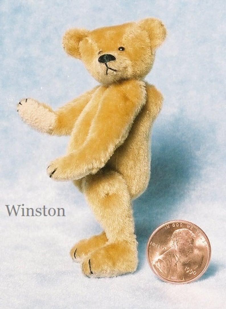 Winston Miniature Teddy Bear Kit  Pattern  by Emily Farmer image 0