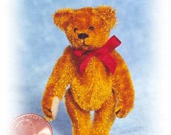 "PDF Pattern & Instructions for Miniature Teddy Bear - DIY - Circa 1904 Bear 2 1/4"" tall -  by Emily Farmer"
