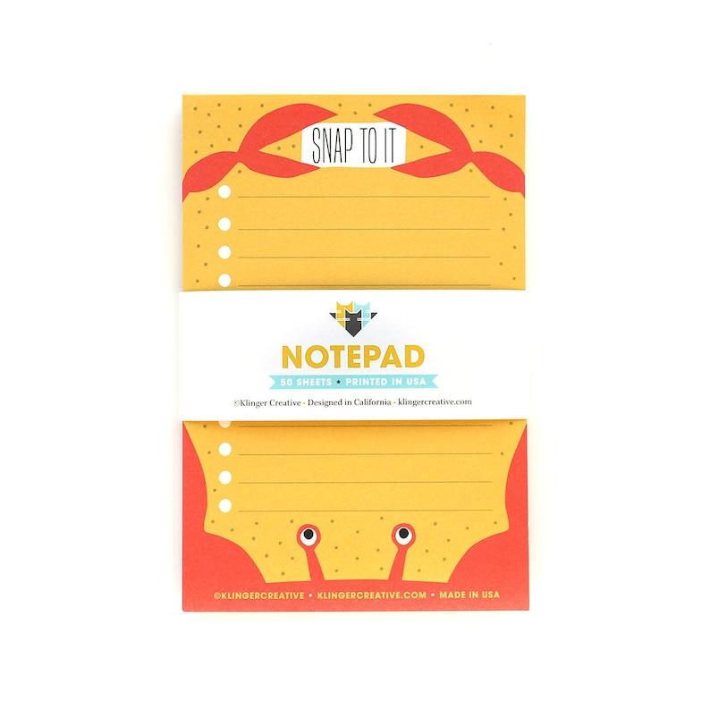 Crab Pad Notepad Productivity Stationery desk accessory nautical ocean
