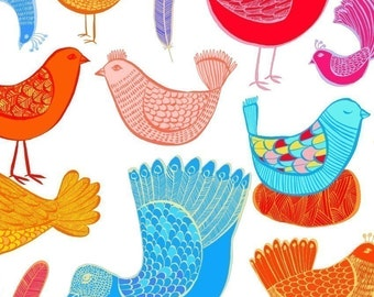 LARGE limited edition print - Jelly Bean Birds - wall art
