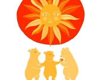 Three Baby Bears - small