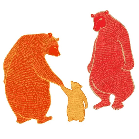 large limited edition print magic jewel bears wall art etsy