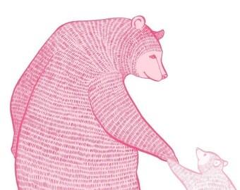 LARGE limited edition print - Magic Blossom Bears