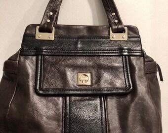 75f967b72151 90 s Vintage Kate Spade Brown and Black Leather Shoulder Bag