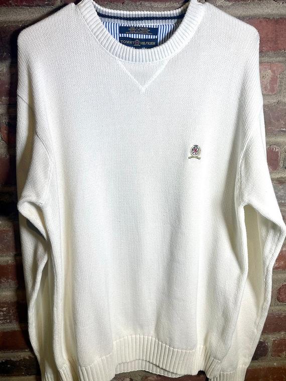 Vintage 1990's White Tommy Hilfiger Sweater
