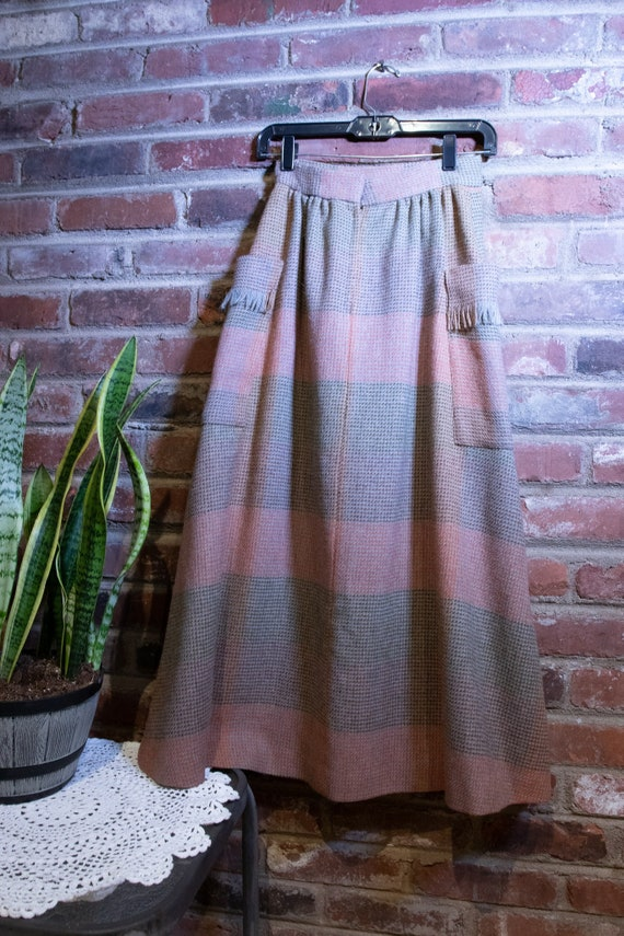 Vintage 1970's Pierre Cardin High Waist Maxi Skirt