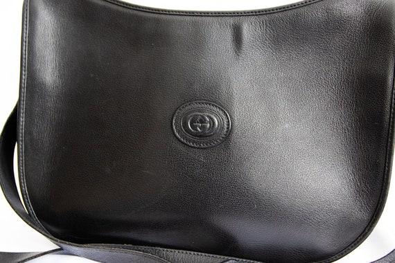 Vintage Gucci 1970's Black Shoulder Bag - image 2