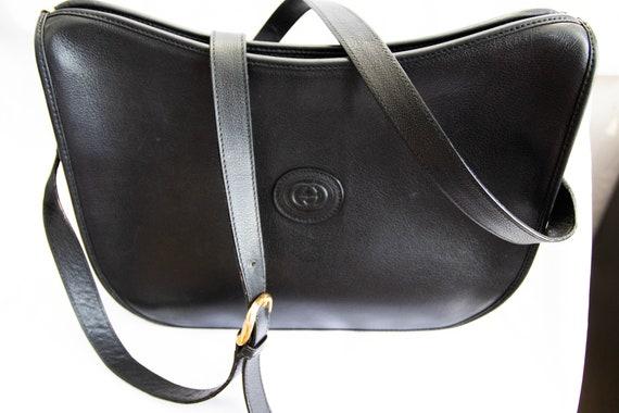Vintage Gucci 1970's Black Shoulder Bag - image 10