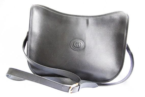 Vintage Gucci 1970's Black Shoulder Bag - image 3