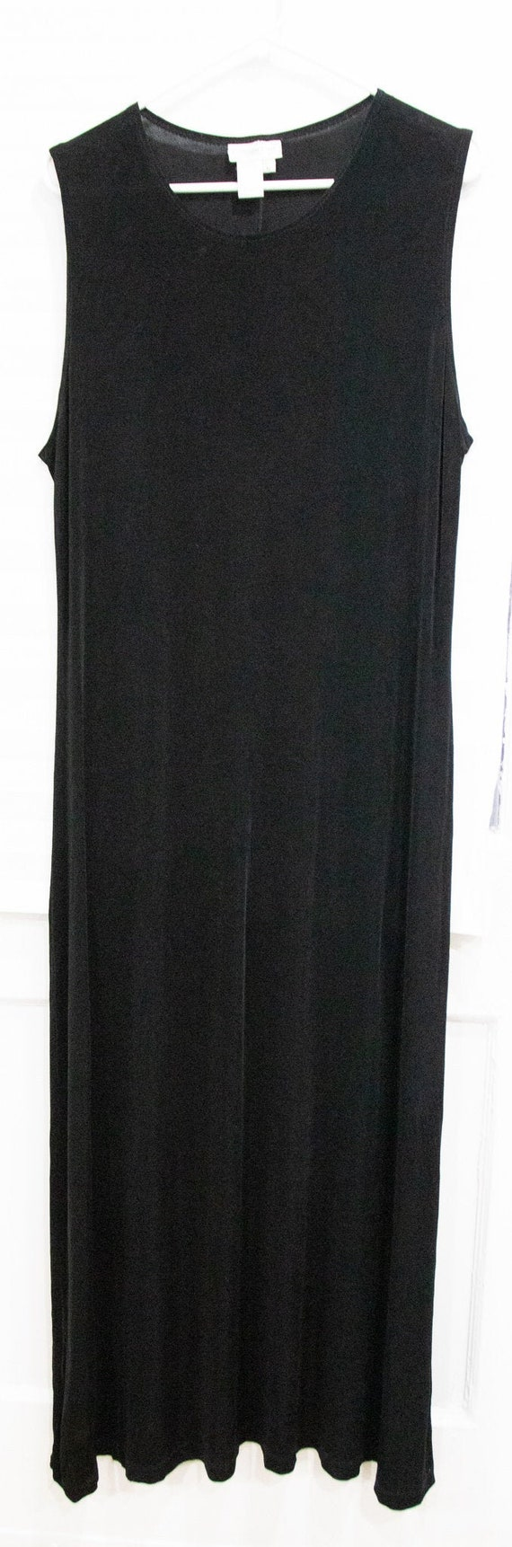Vintage 1990's Minimalist Black Maxi Dress