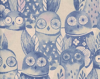 Firelight Wise Owls Lilac - Firelight Collection for Cotton+Steel - 100% quilting cotton, by the yard, fat quarter