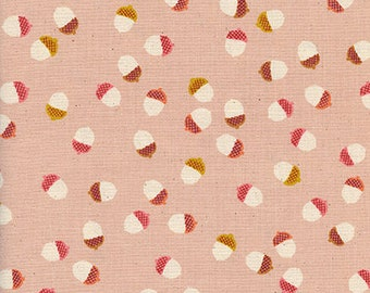 Remnant 16 inches - Firelight Acorns Peach - Firelight Collection for Cotton+Steel - 100% quilting cotton - FL6718