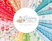 Granny Chic Half Yard Bundle - designed by Lori Holt - Manufactured by Riley Blake - 100 Cotton - 34 pieces