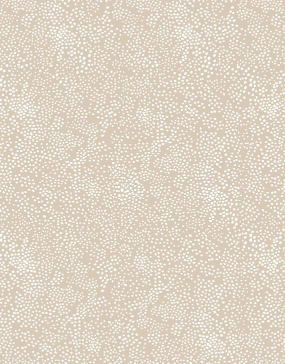 fabric Basics Menagerie Champagne LinenFabric Rifle Paper Company Basics Beige  Dot Cotton Fabric Rifle paper co Quilting Cotton