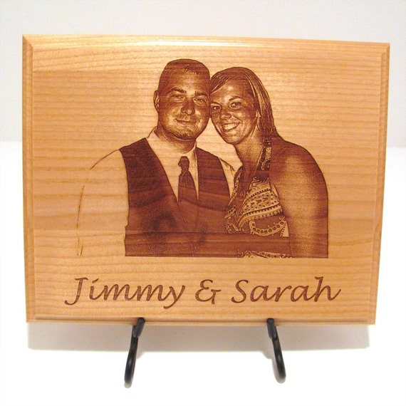 photo custom laser engraved wood plaque sign choose your etsy