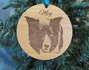 Custom Pet Photo Ornament - Laser Cut Wood Ornament