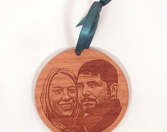 Custom Photo Ornament - Laser Cut Wood