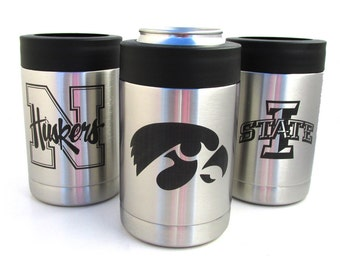 Stainless Steel Drink Cooler - Choose Your Team - Can Cooler and Bottle Cozy