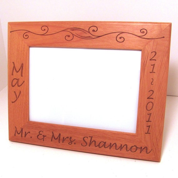 Custom Laser Engraved Wood Picture Frame 5x7 Etsy