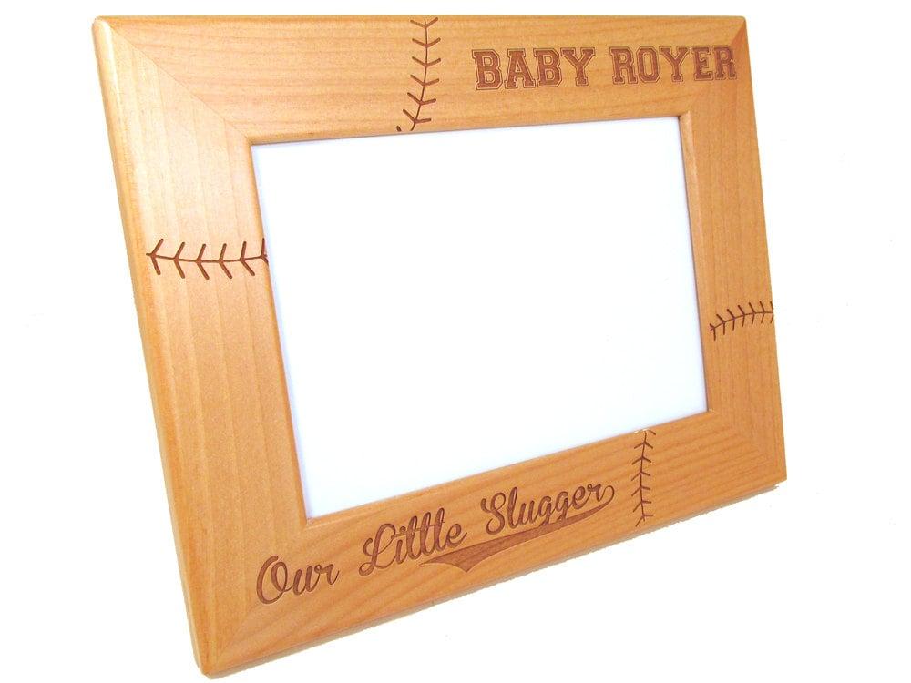 Personalisierte Baseball Rahmen Holz Baby-Bilderrahmen | Etsy