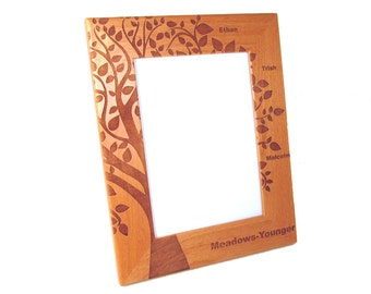 Wooden Picture Frame - Family Tree - Tree of Life - Choose Your Size