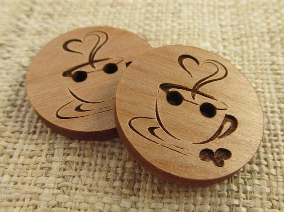 Coppia Bottoni in legno taglio laser borsetta stivale decorazioni scrapbooking