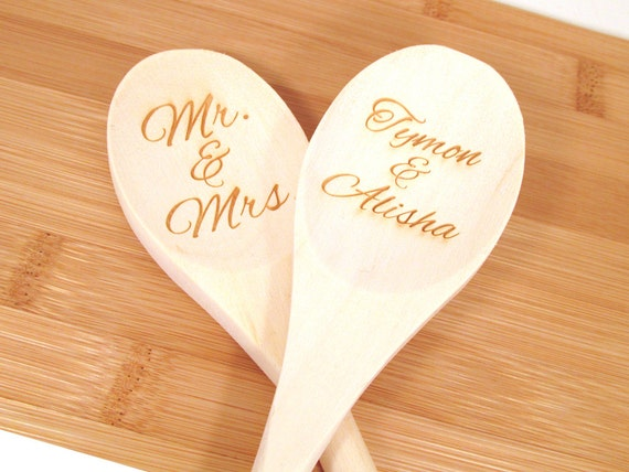 personalized wooden spoon engraved custom wooden spoon 1 etsy