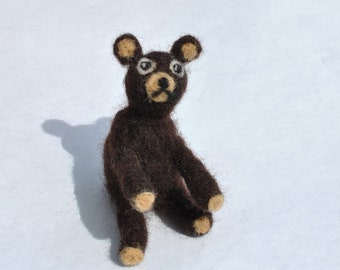 Teddy  bearbrown needle felted