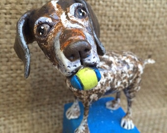 Personalize your pet custom dog sculpture pet likeness one of a kind portrait for the pet lover