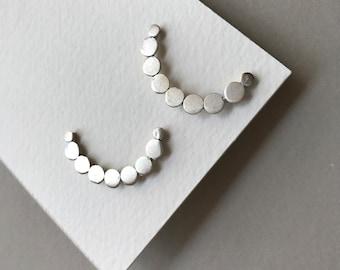 Half Moon Sterling Silver Casual Earrings