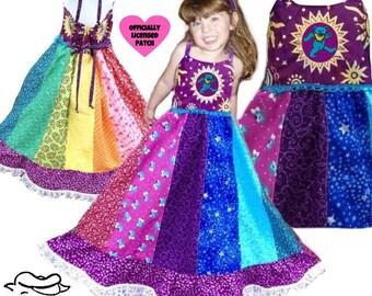 2c20443a06c67 Girls Patchwork Hippie Rainbow Dress, spinner